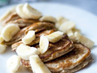 A picture of protein packed pancakes perfect for a warm nutritious breakfast.