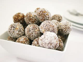 an image of coconut protein balls.