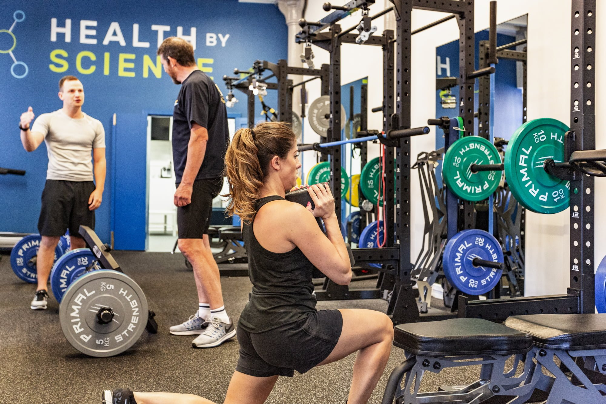an image of personal training clients training.