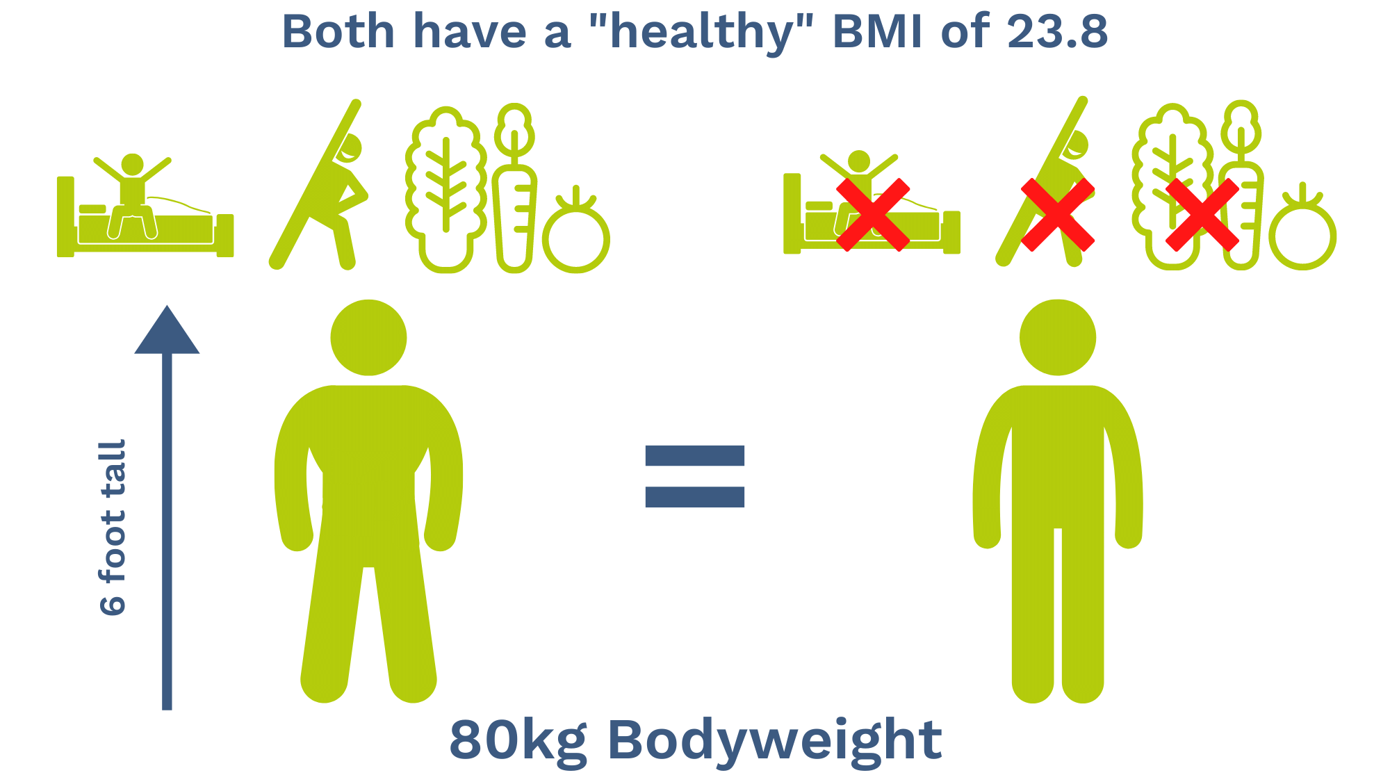 healthy BMI comparison
