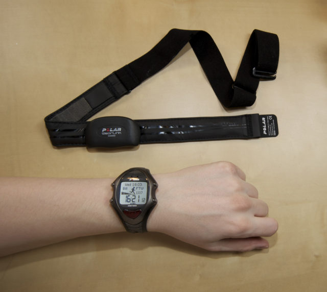 Picture of a heart rate monitor.