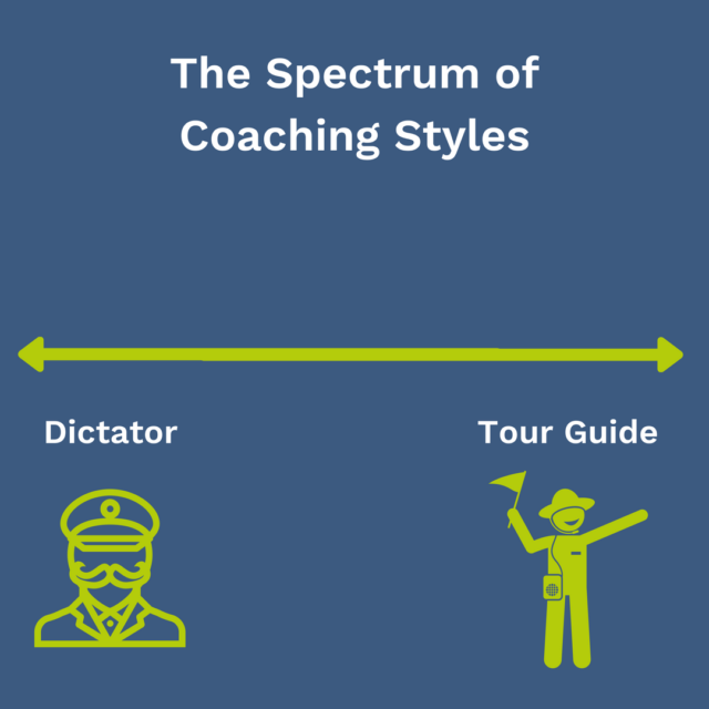An image of the spectrum of coaching styles.